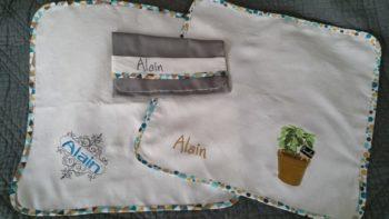 serviette table cadeau broderie couture atelier