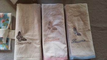 serviette table broderie nom couture