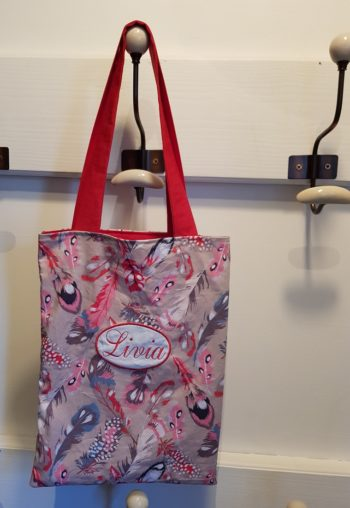 confection tote bag broderie couture combronde