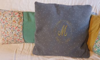 broderie coussin personnalisation couture