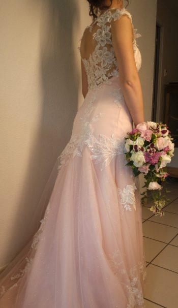 confection robe mariée sur mesure mariage combronde