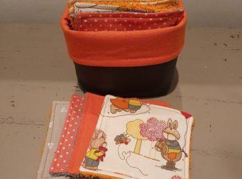 lingettes lavables personnalisées bébé cadeau
