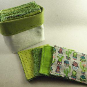 cadeau naissance réutilisable vert éponge combronde