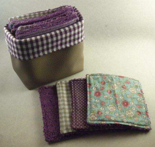 Lingettes lavables violette