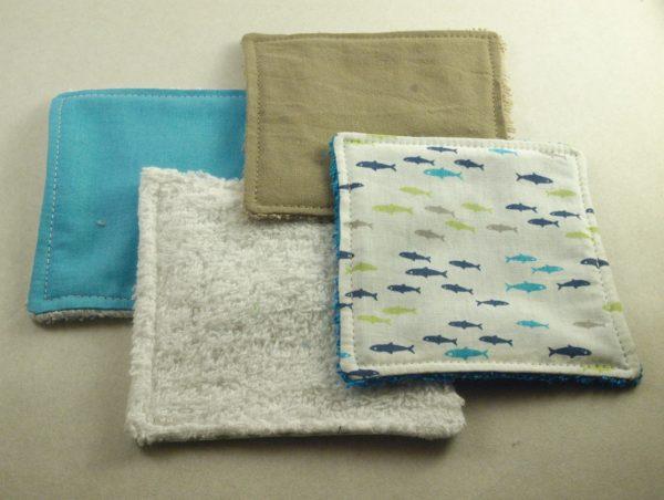 coton réutilisable bébé démaquillage artisanat