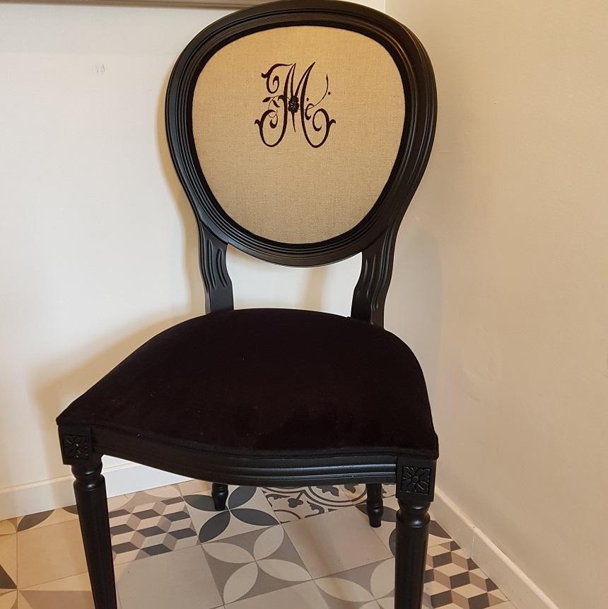 tapissier ameublement lin chaise couture cotonnerie